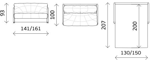 Прямой диван-кровать «Робин-Бобин М», фото 6