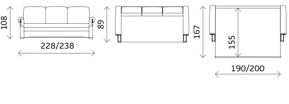 Прямой диван-кровать «Зимняя Венеция 3-x местная», фото 5