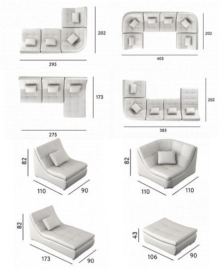 Модульный диван Мари Соле, фото 6
