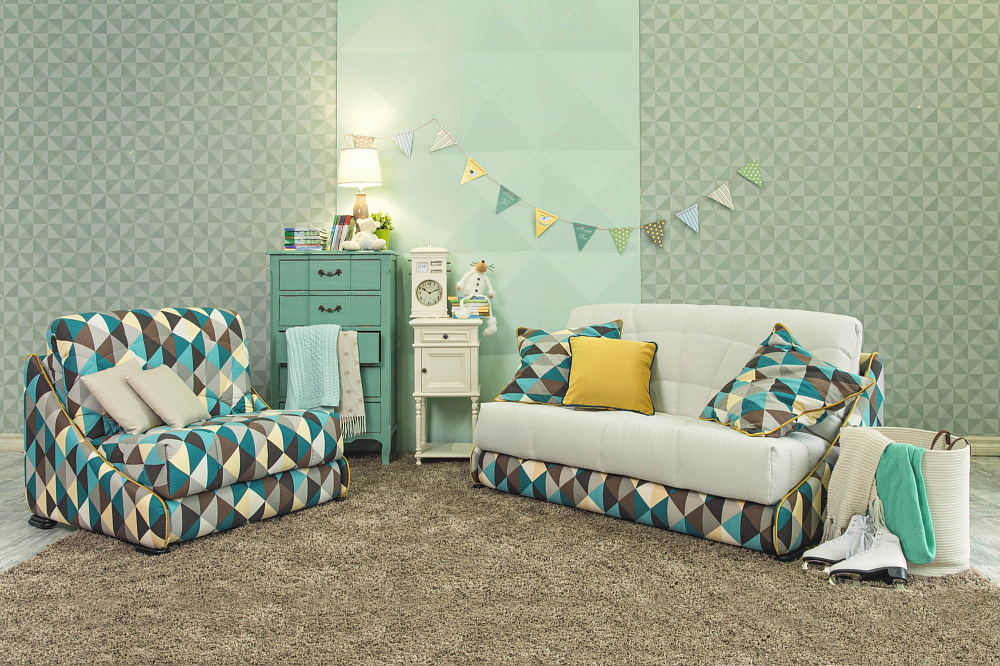 Прямой диван-кровать «Робин-Бобин М», фото 1